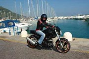 Holidays, motorbike, Liguria, coastal roads, mountain passes